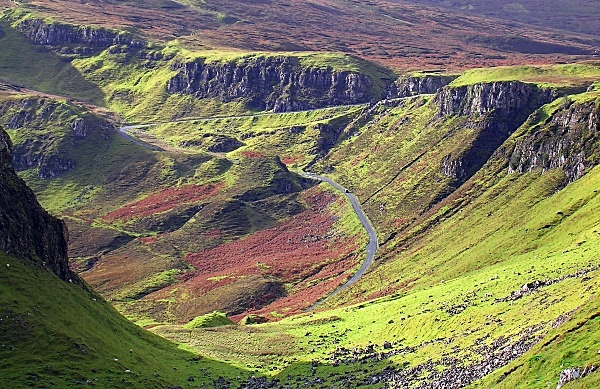 The Road Up to The Quiraing - Isle of Skye