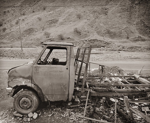 ABANDONED VAN, Cwmystwyth Mines, Ceredigion 1994 - THE WELSH LANDSCAPE