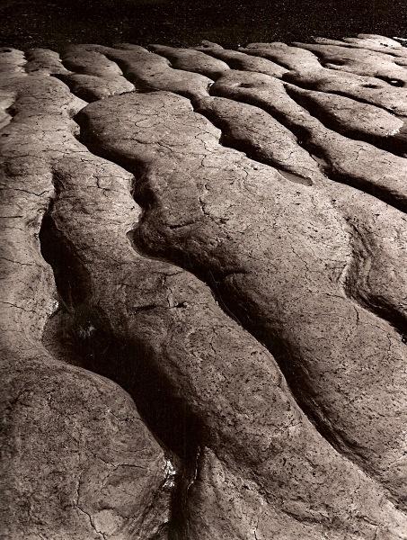 MUD DEPOSITS, Tan-y-Bwlch beach, Aberystwyth 1993 - THE WELSH LANDSCAPE - MOSTLY IN CEREDIGION