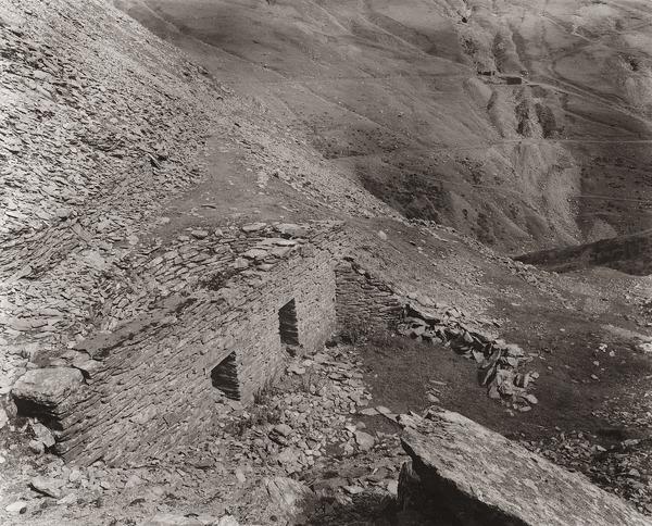 SEMI-CIRCULAR RUIN, COPA HILL, Cwmystwyth Lead Mines, Ceredigion 1993 - OTHER TYPES RUINS IN CEREDIGION