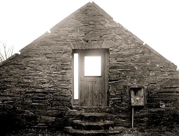 EMPTY FACADE, Pontrhydygroes 2003 - OTHER WELSH RUINS