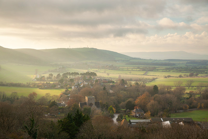 Winter light, Poynings - Land