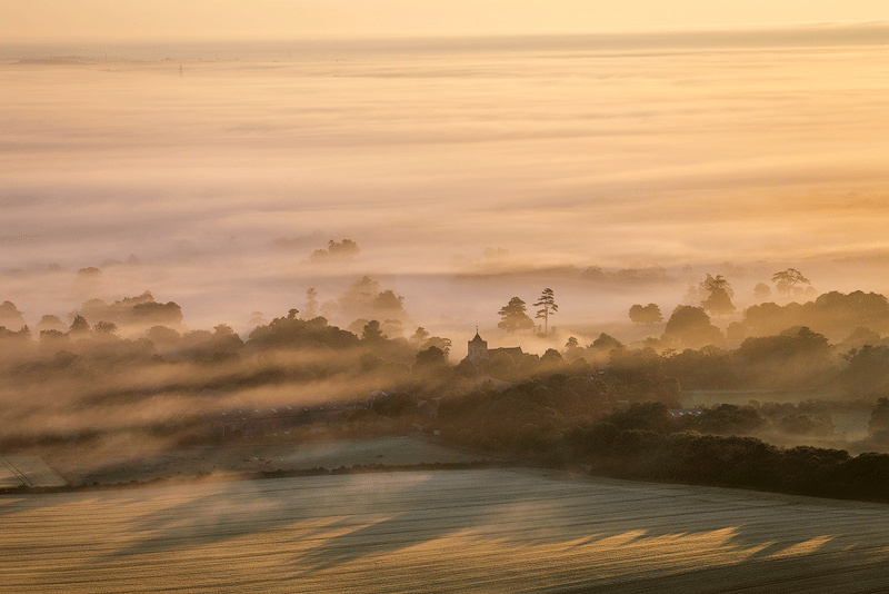 Mist over the Weald - Land