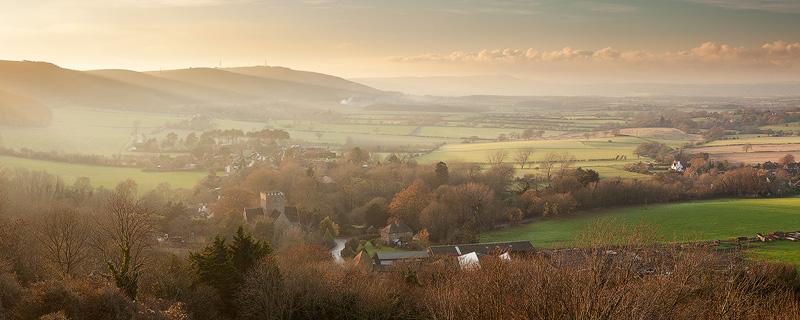 Winter light, Poynings panorama - Land