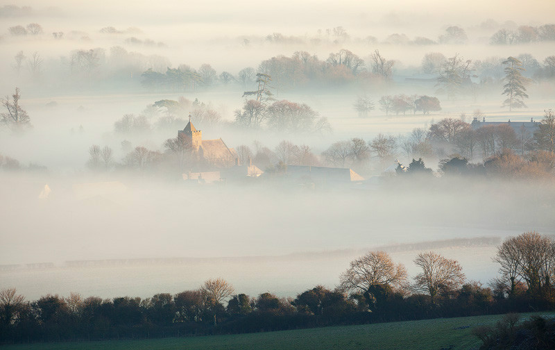 Firle mists II, South Downs - Land