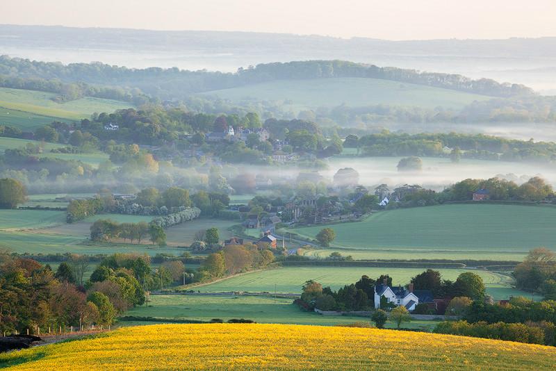 Early spring, Glynde - Land