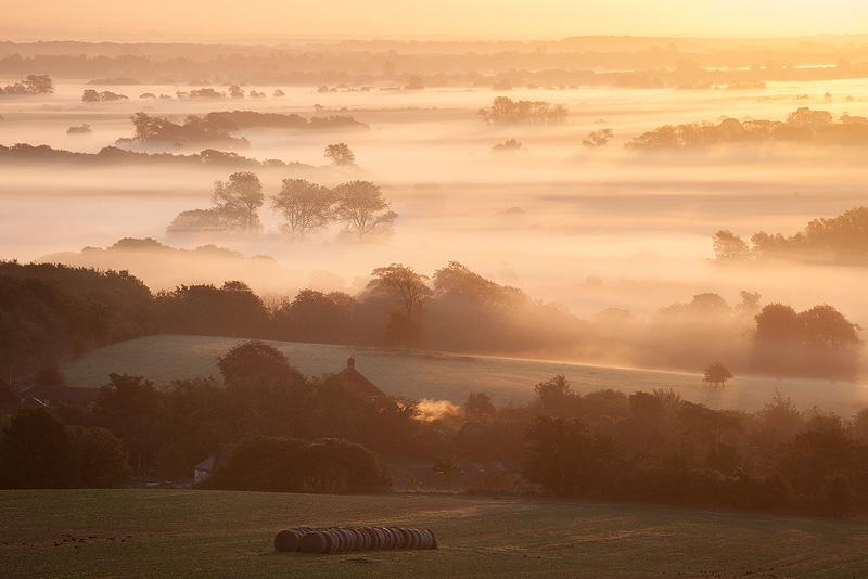 Mist over Glynde - Land