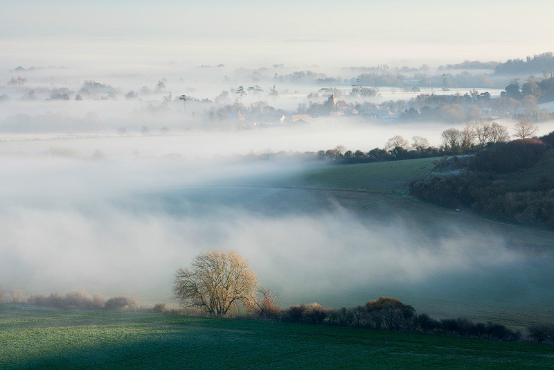 Firle mists, South Downs - Land