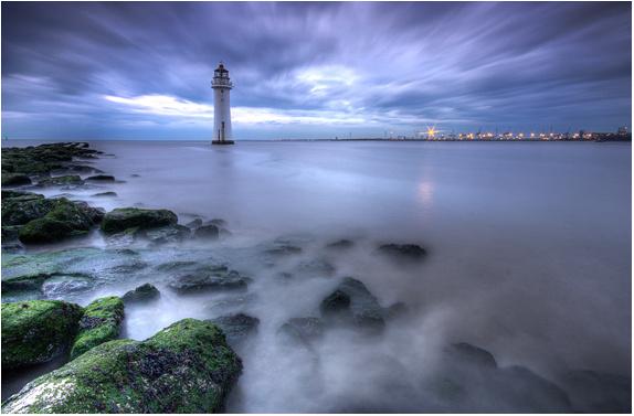 Lighthouse Blues - Wirral Landscapes