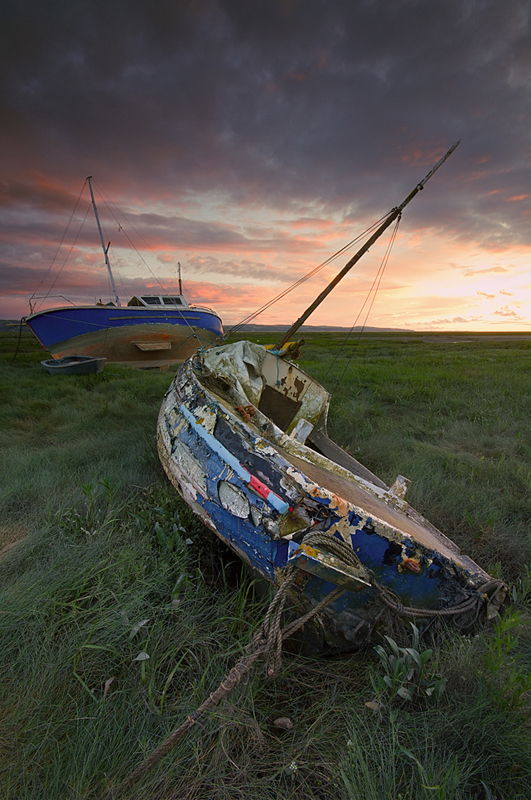 and the three boats - Wirral Landscapes