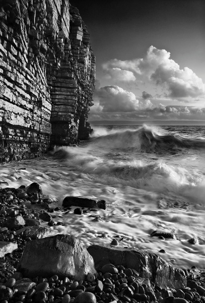 Nash Point  - Du a Gwyn / Black and White Images