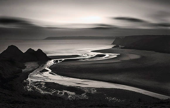 Pennard Pill   Three Cliffs - Du a Gwyn / Black and White Images