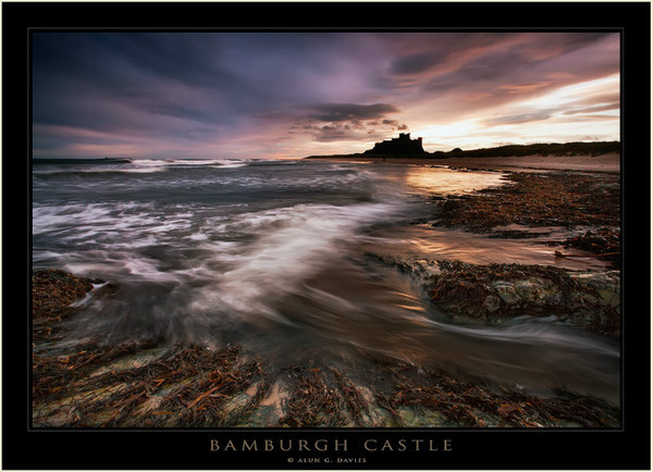 Bamburgh Castle Dawn - Northumberland
