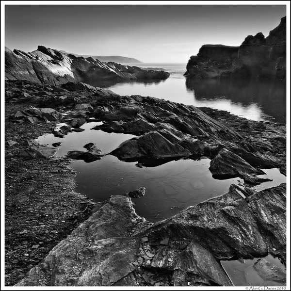 Chwarel Abereiddi Quarry - Du a Gwyn / Black and White Images