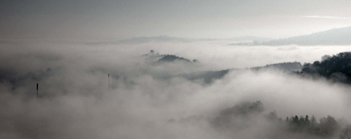 Oker Hill in the mist - Landscapes