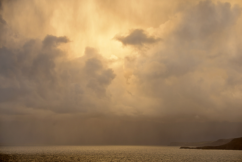 Ynys Lochtan Storm Clouds - West Wales