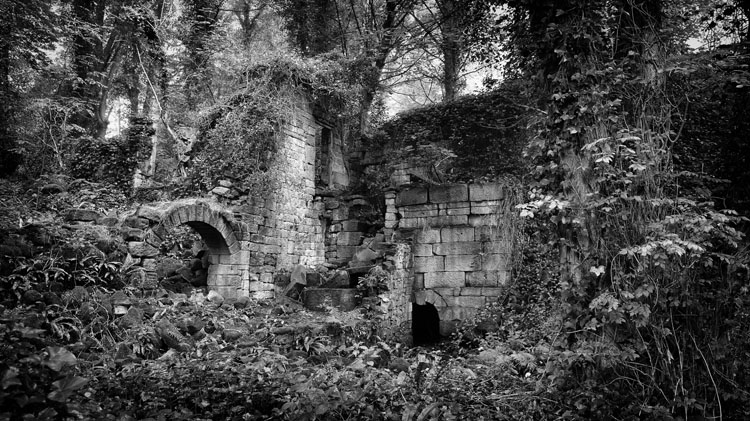 Lumsdale Ruin - Black and White