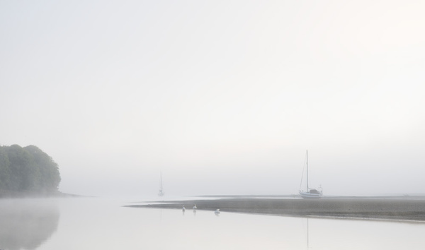 Boats in the mist. - Simplicity