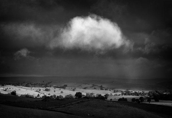 Wolfescote Dale Stormy sunrise mono - Black and White