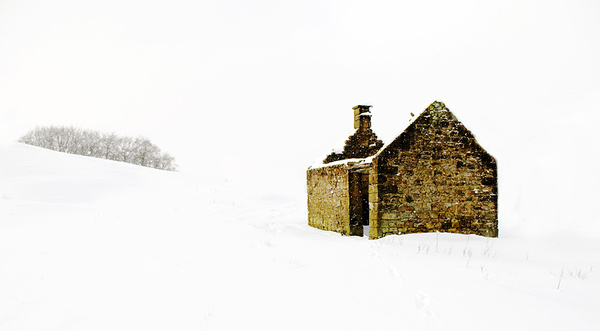 Halldale Darley Dale Derelict house in the snow 2 - Winter Landscapes