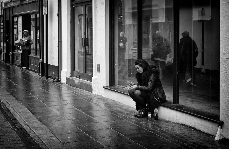 Waiting and Watching. - Street Photography