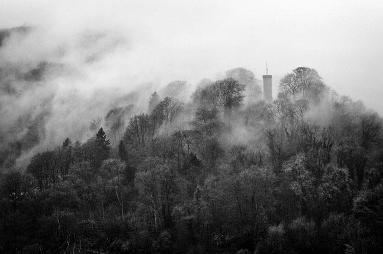 Prospect Tower Matlock Bath - Black and White
