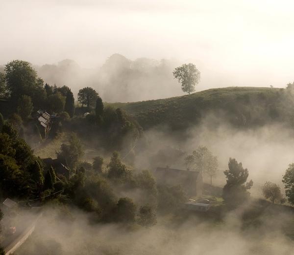 Stanton Lees in the mist - Stanton Moor Landscapes