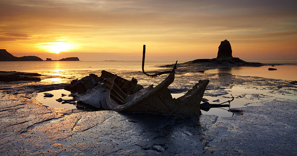 Sunset Wreck - Yorkshire Coast