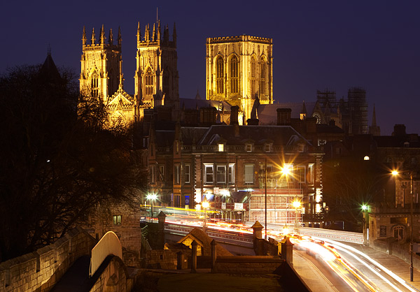 Minster From The City Walls - York