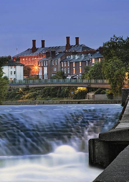 The Weir - Shrewsbury in soft light