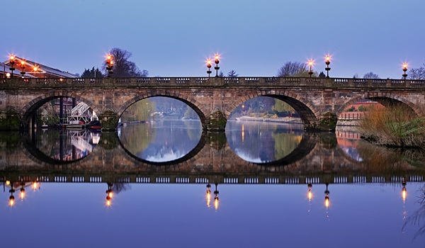 Welsh bridge 1 - Shrewsbury in soft light