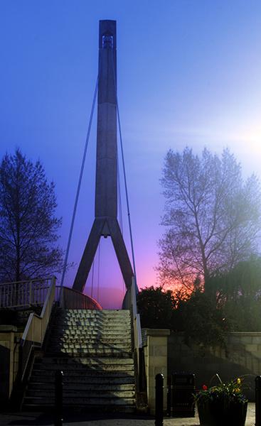 Frankwell foot bridge - Shrewsbury in soft light