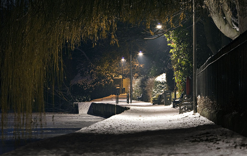 Night Path - Shrewsbury in soft light