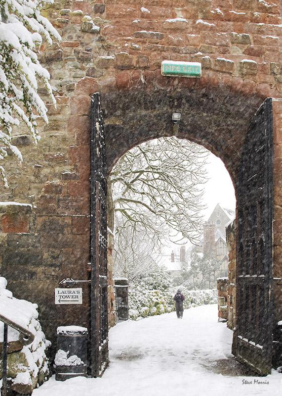Castle Entrance - Shrewsbury in soft light