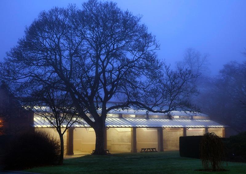 Fives court at dusk - Shrewsbury School