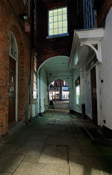 Lion Hotel passage - Shrewsbury in soft light