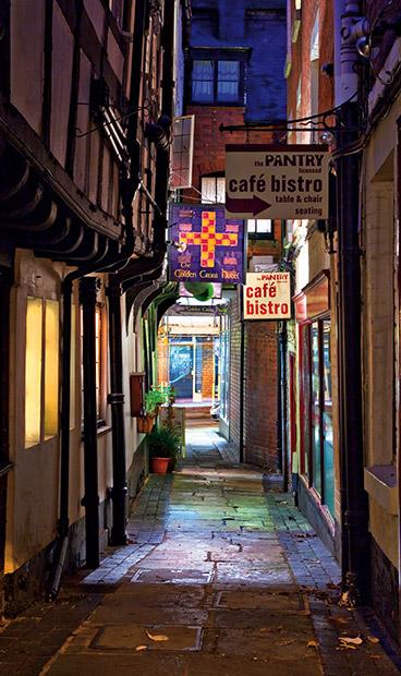 Golden Cross Passage - Shrewsbury in soft light