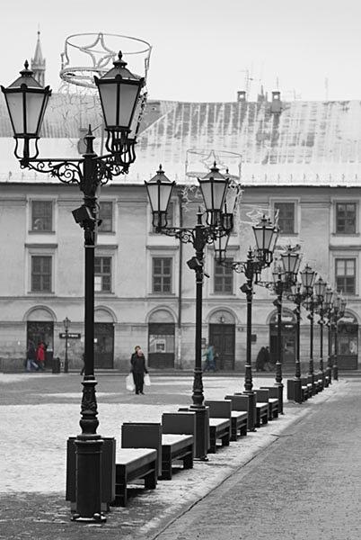 Maly Rynek Square - Krakow in cool light