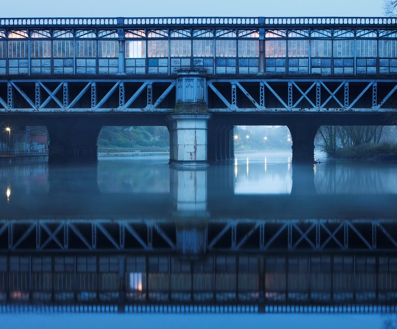 Railway Bridge - Shrewsbury in soft light