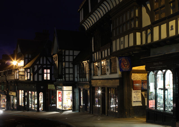 Wyle Cop - Shrewsbury in soft light