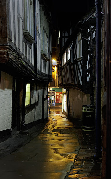Grope lane - Shrewsbury in soft light