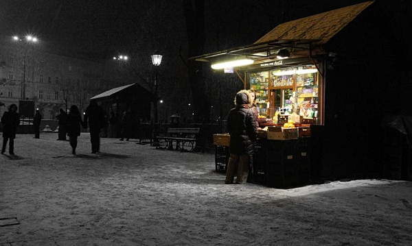 Street stall - Krakow in cool light