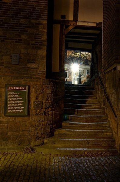 Bear steps - Shrewsbury in soft light