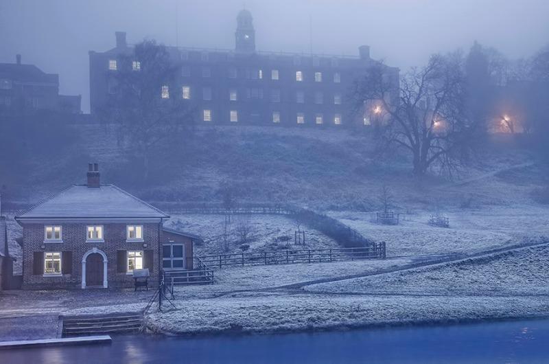 Hoar frost - Shrewsbury School