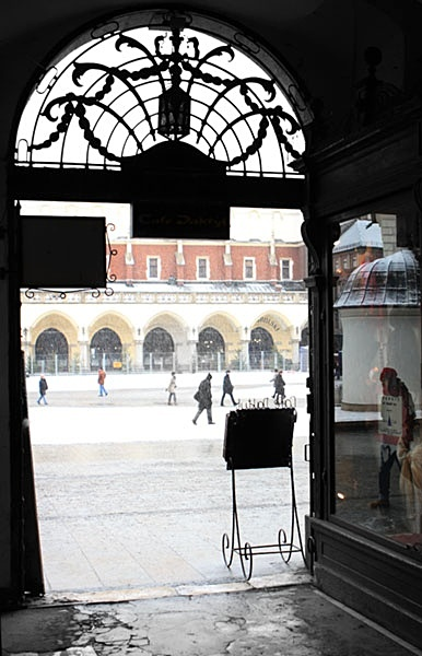 View to the square - Krakow in cool light