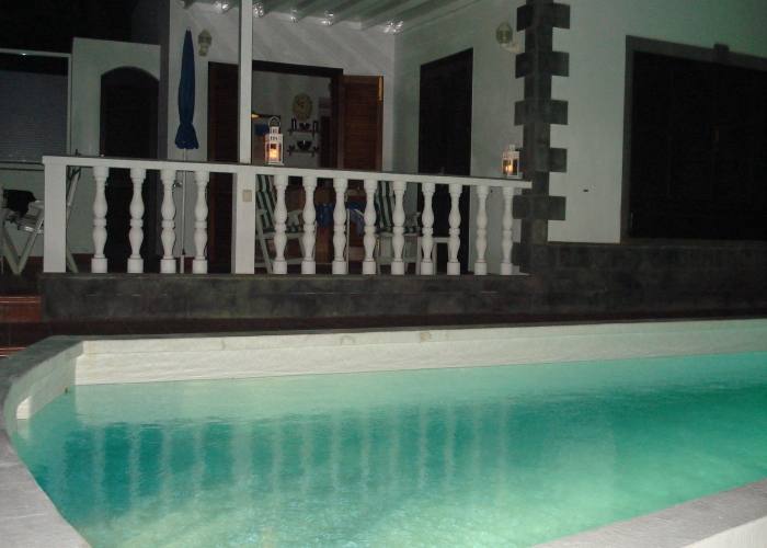 Pool at night - Photos of Lanzarote