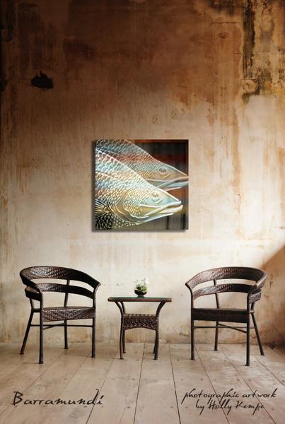 Barramundi - Artwork Displayed in a Room
