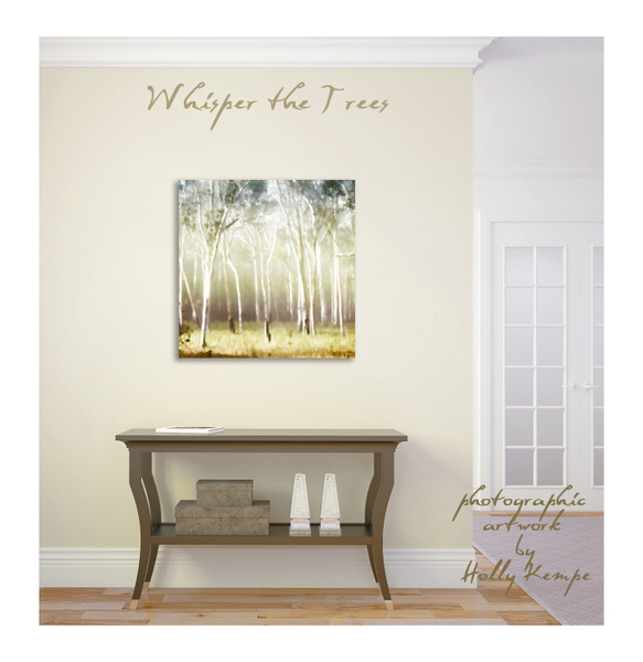 Whisper the Trees - Artwork Displayed in a Room