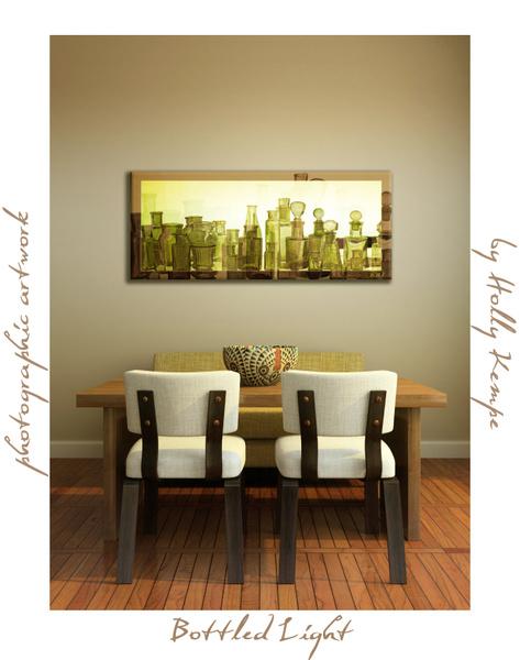 Bottled Light - Artwork Displayed in a Room