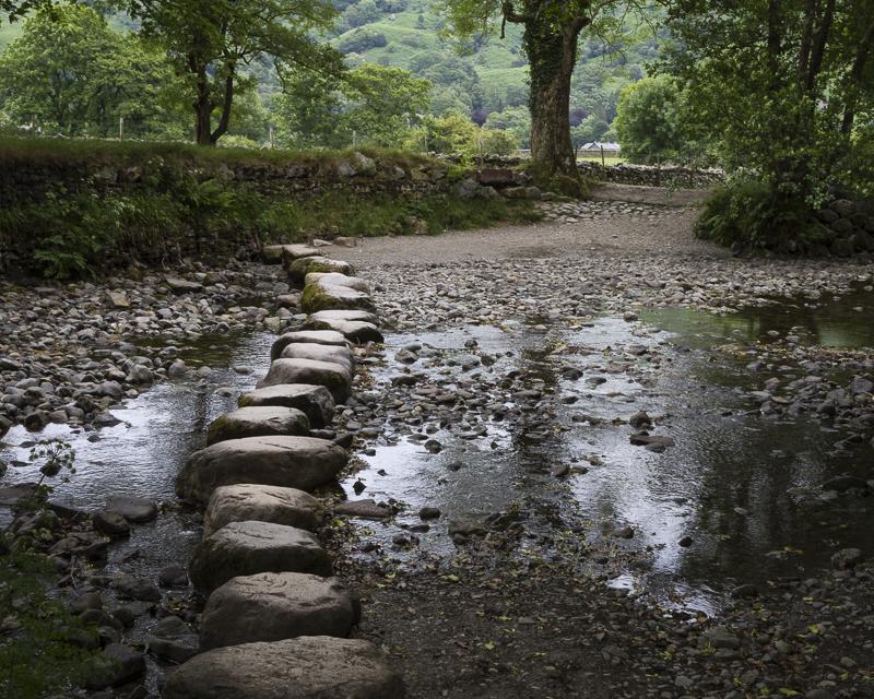 Low Water - Stepping Stones - River Derwent - English Lake District